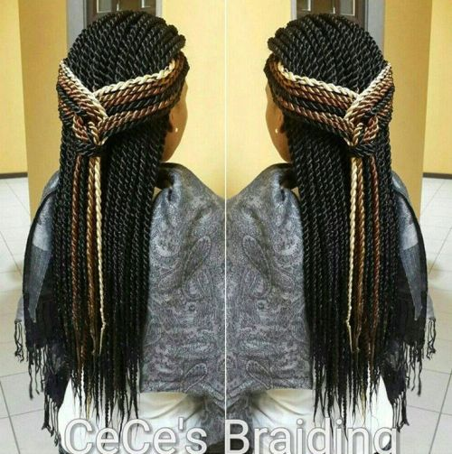 Plaited Half Up Style