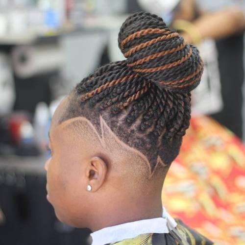 Undercut Senegalese Twists