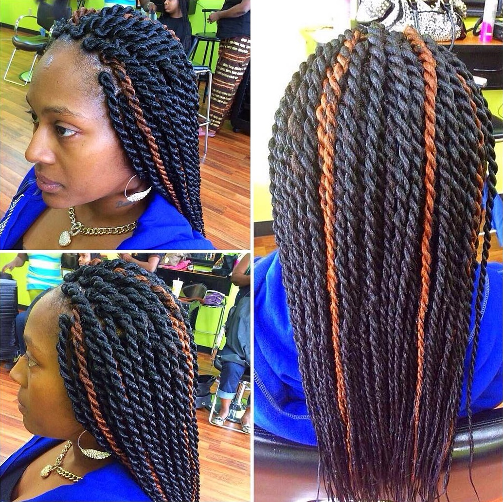 Thick Senegalese Twists With Thin Ends