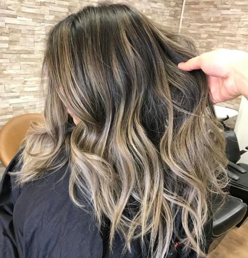Golden Blonde Balayage For Brown Hair