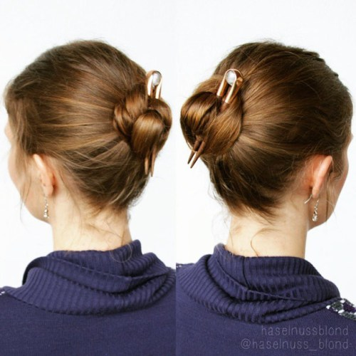 easy bun for shorter hair