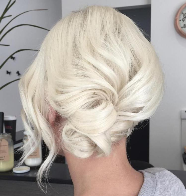 Side Low Knot Updo