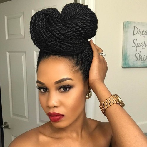 Top Bun For Senegalese Twists