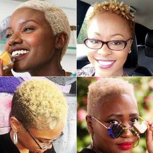 Blonde TWA Styles