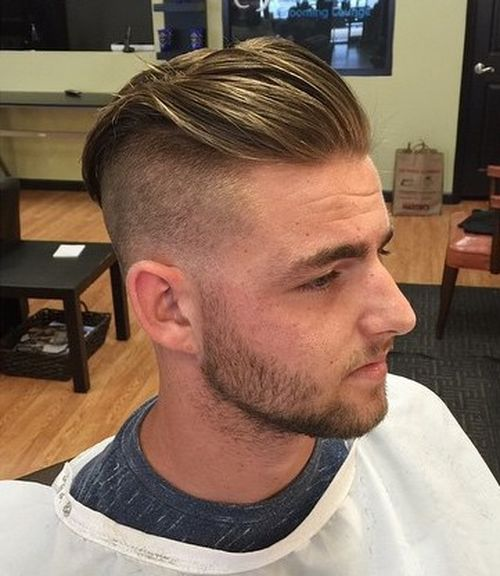 long top short sides hairstyle for men