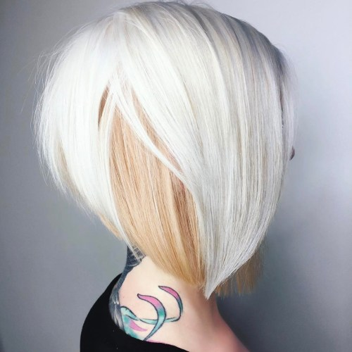 Platinum And Strawberry Blonde Bob