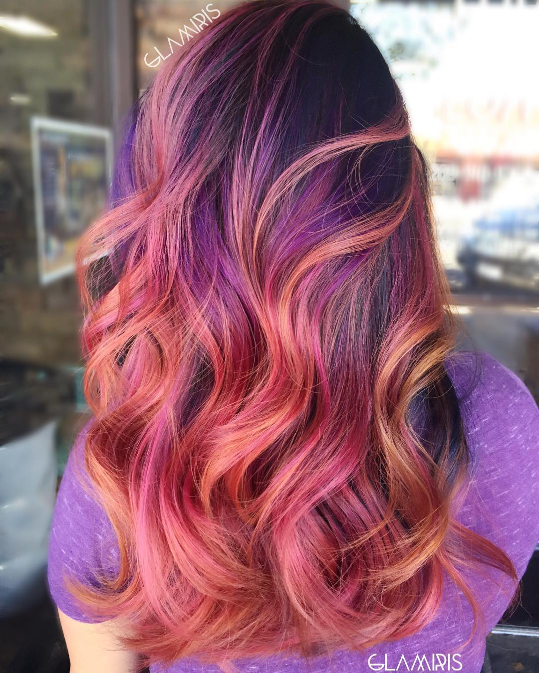 Red And Purple Hair With Blonde Highlights Wiring Diagrams