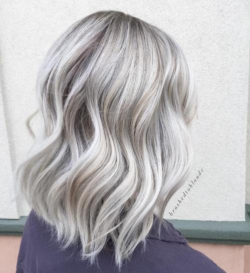 Blonde Balayage With White Highlights