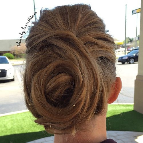 cute updo for long hair