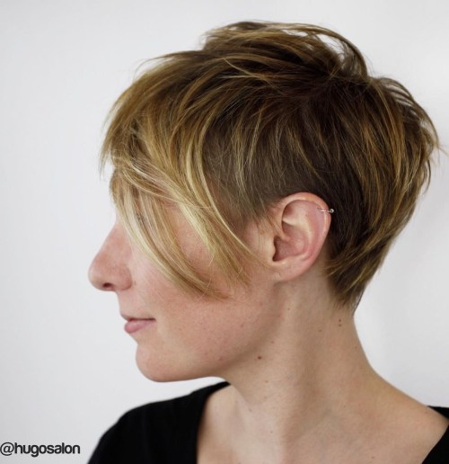 20 edgy ways to jazz up your short hair with highlights feathered pixie with undercut pmusecretfo Image collections