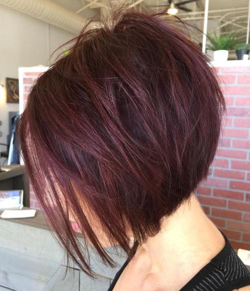 Inverted Burgundy Bob