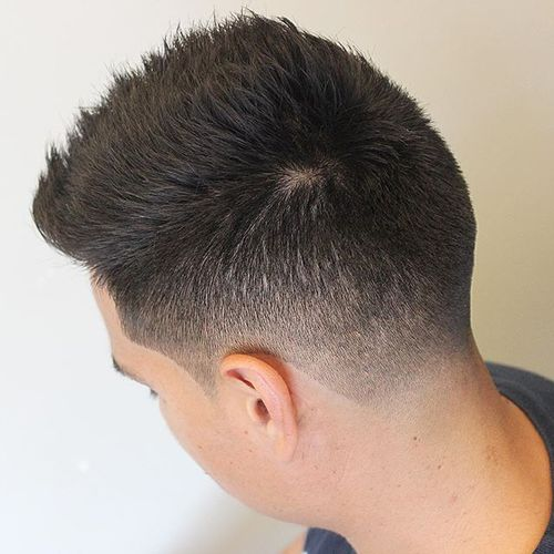 point cut short haircut for men