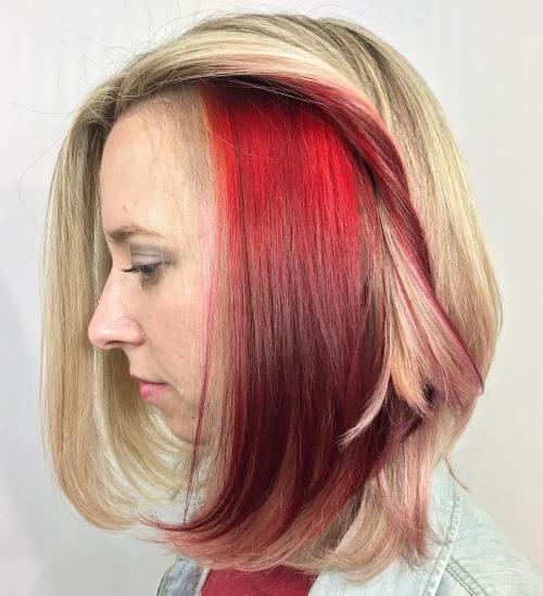 40 Ideas Of Peek A Boo Highlights For Any Hair Color