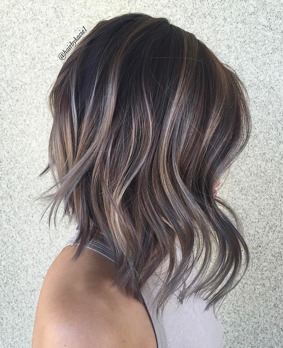 Image Result For Dark Brown Hair With Silver Highlights Going Gray
