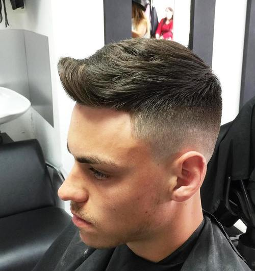 quiff haircut with faded sides