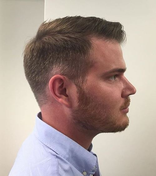 classic military haircut for men