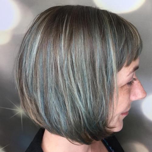 surbrillance donne coiffures blues bleues