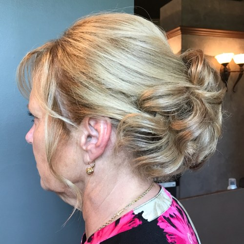 50+ Curly Updo