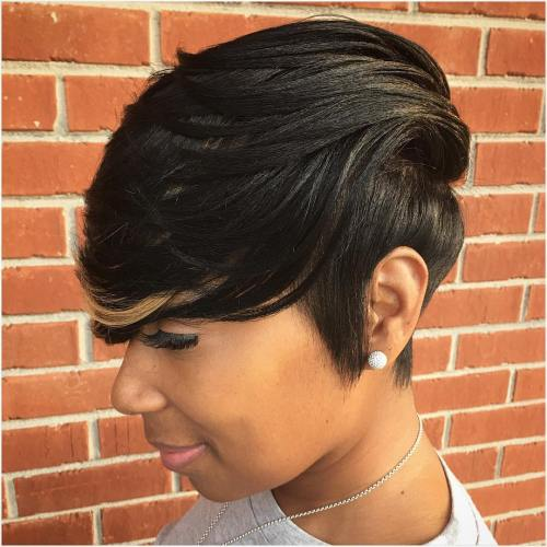 black weave with bangs