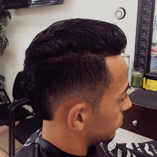 pompadour with low fade