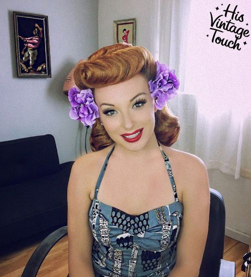 Auburn Pin Up Hairstyle