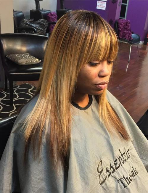 Sew hot 40 gorgeous sew in hairstyles medium layered straight sew in with bangs pmusecretfo Choice Image