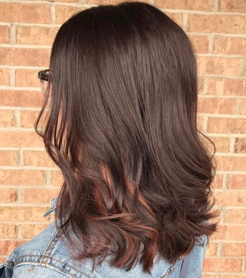 40 ideas of peek a boo highlights for any hair color chocolate brown hair with subtle highlights pmusecretfo Choice Image