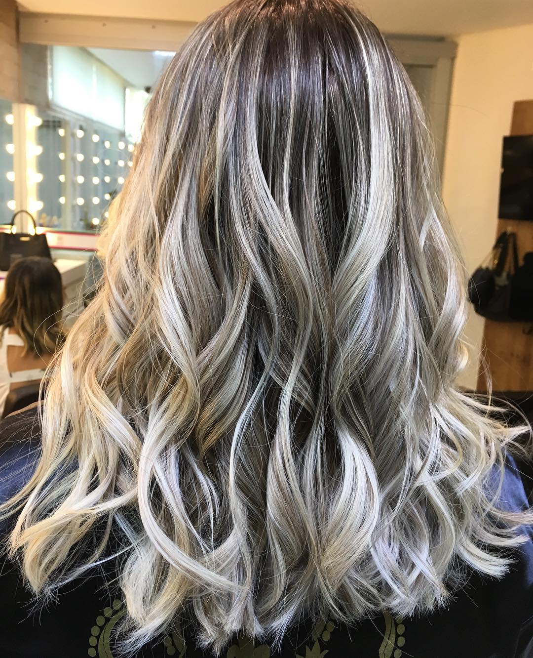 White With Light Brown Highlights