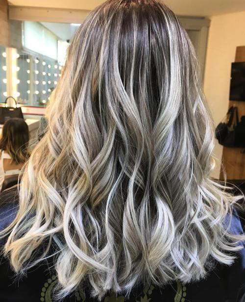 Bronde Hair With Ashy And White Highlights