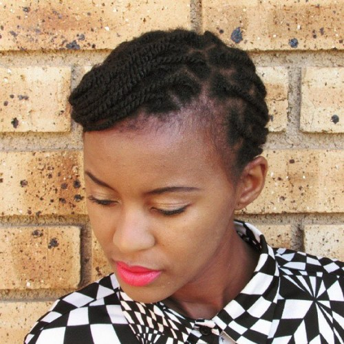 Formal Kinky Twists Updo