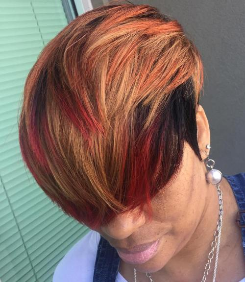 Black And Red Pixie Weave