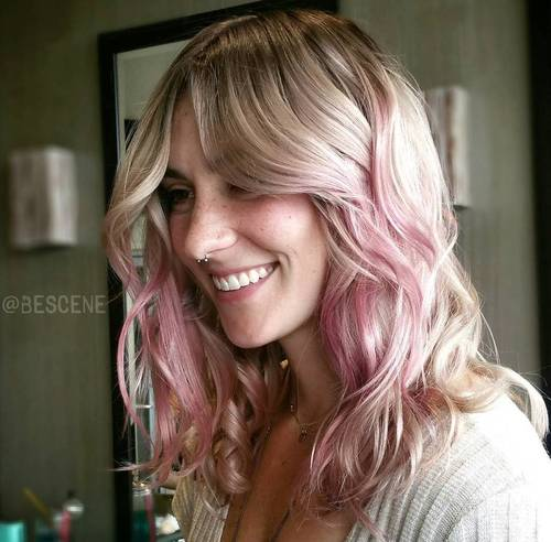 40 best pink highlights ideas for 2018 blonde to pastel pink ombre pmusecretfo Choice Image