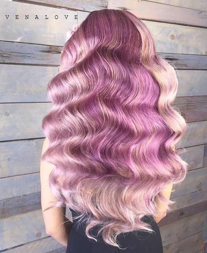 Purple Hair With Blonde Highlights