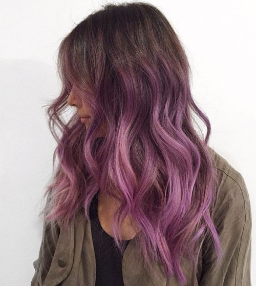 40 versatile ideas of purple highlights for blonde brown and red hair light brown hair with lavender highlights pmusecretfo Image collections