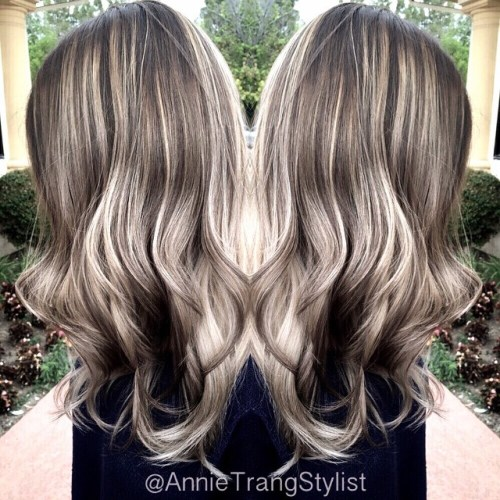 Ash Brown Hair With Blonde Balayage