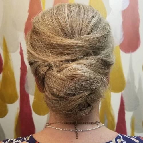 Elegant Chignon Updo For Long Hair