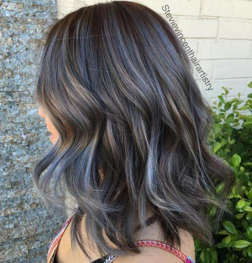 45 ideas of gray and silver highlights on brown hair medium brown hair with gray highlights solutioingenieria Images