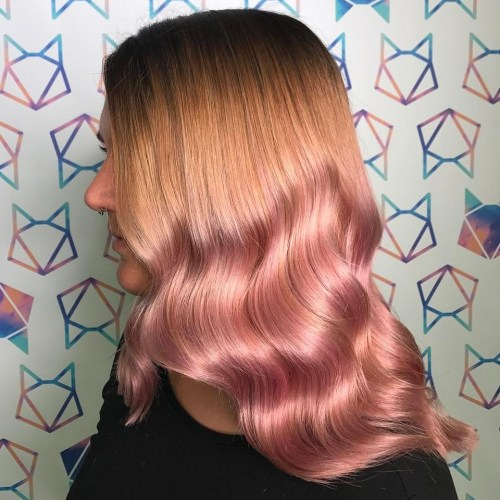 pastel pink ombre hair