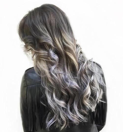 ash blonde balayage for black hair