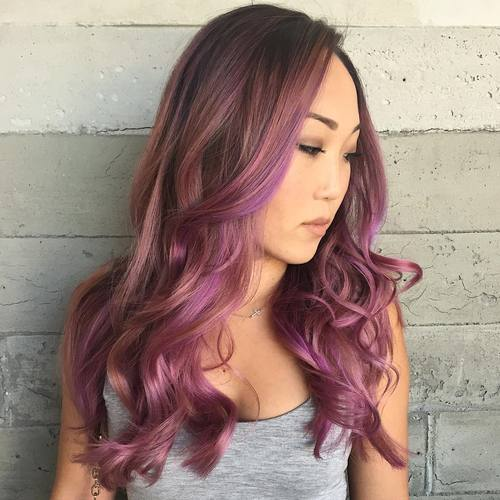 40 best pink highlights ideas for 2017 brown hair with lavender and pastel pink balayage pmusecretfo Images