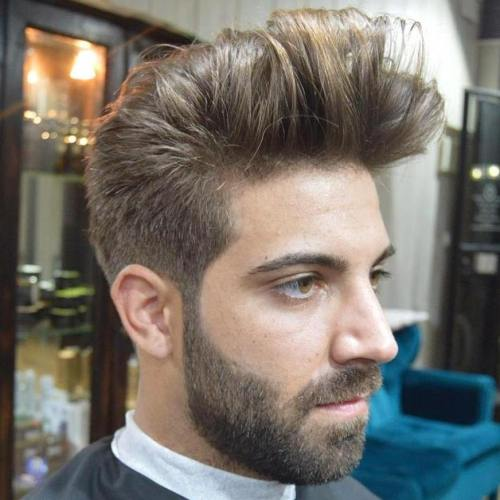 long top quiff haircut for men
