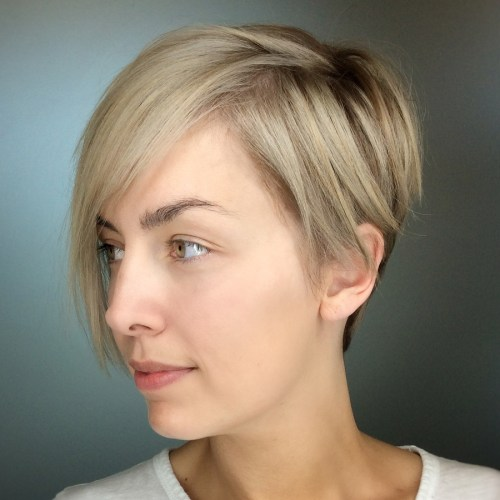 Short Pixie With Cropped Asymmetric Bangs