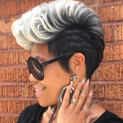 Silver Fauxhawk For Black Women