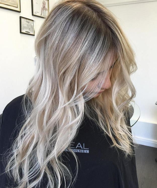 Blonde Balayage For Long Thin Hair