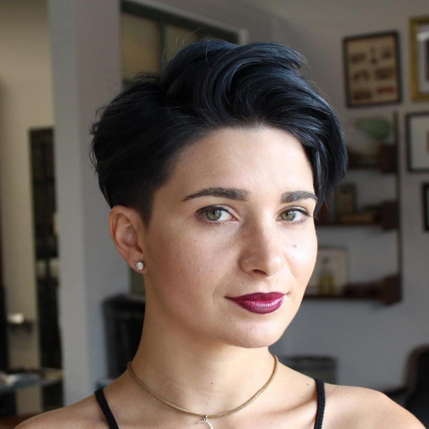 pixie with side bangs for straight hair