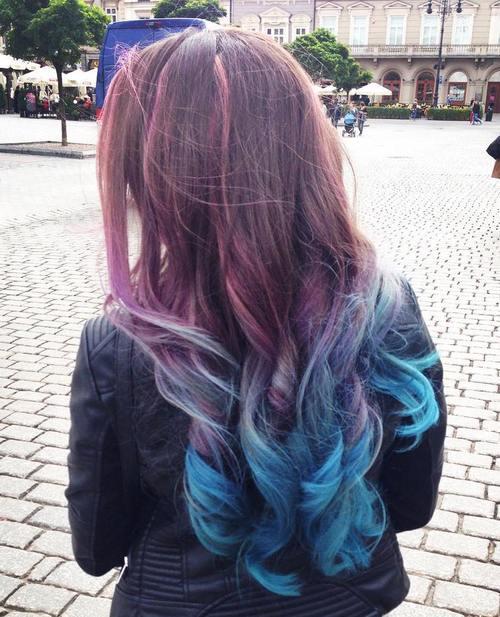 Purple And Blue Streaks In Brown Hair Www Pixshark Com