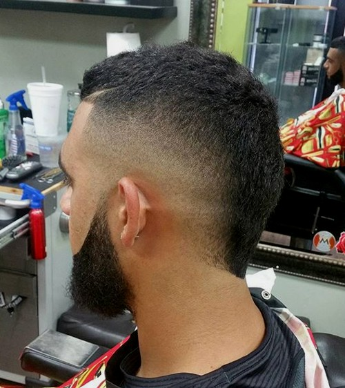 short mohawk with faded sides