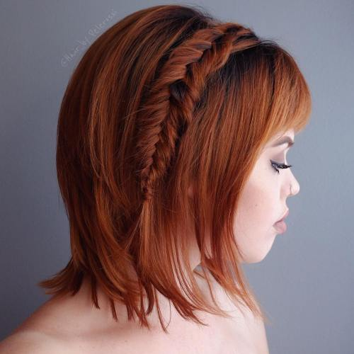 tressees magnifiques courts coiffures cheveux