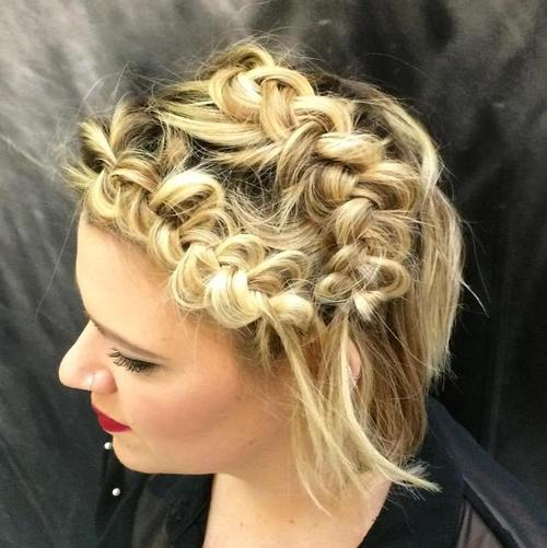 messy braids for short hair