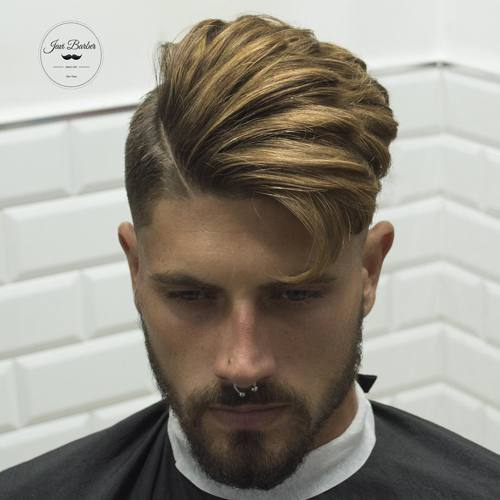 side part asymmetrical haircut for men